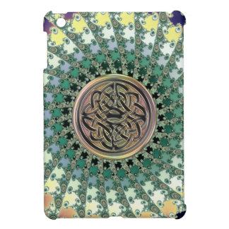 Fractal Tapestry with Metallic Rainbow Celtic Knot iPad Mini Case