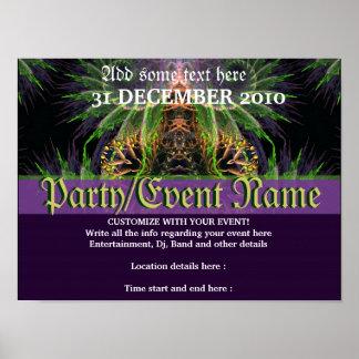 Fractal Temple Forest Fantasy Poster