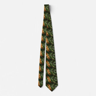 Fractal Tie - Green with Brown