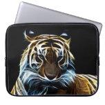 Fractal tiger laptop sleeve