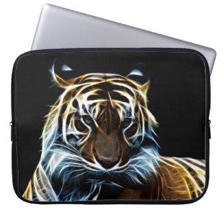 Fractal tiger laptop sleeves
