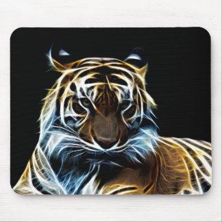 Fractal tiger mouse pad