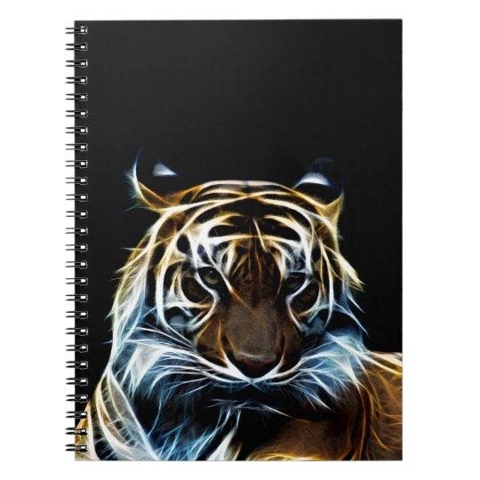 Fractal tiger notebook