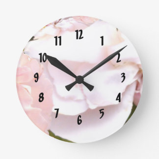 Fractal Trace of Heaven on Earth Rose Round Clock