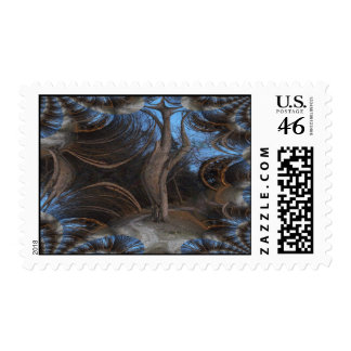 Fractal Traced Gothic Tree Stamps