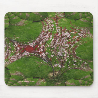 Fractal Traced Sandcherry Tree Mousepad