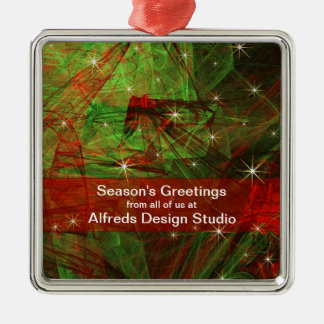 Fractal Traditional Colors - Christmas Ornament