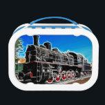 "Fractal Train Lunch Box<br><div class=""desc"">How cool is this train.</div>"