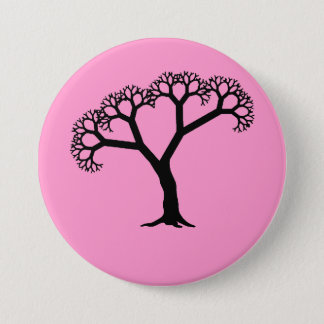 Fractal Tree Black Button