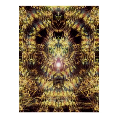 Fractal Tree Spiritual Psychedelic Poster print