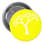 Fractal Tree White Button