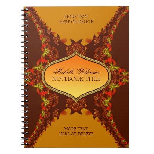 Fractal Tribal Wings Notebook