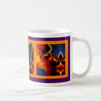 Fractal triptych coffee mug