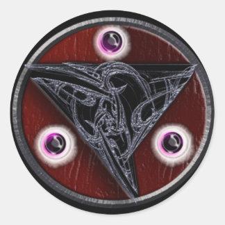 fractal triskelion classic round sticker