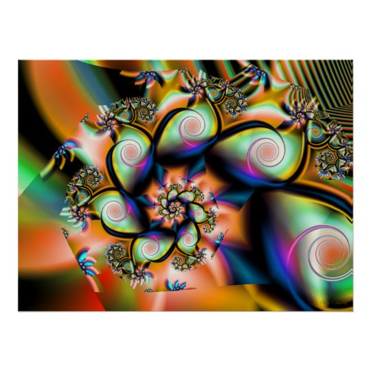 Fractal Tropical Smoothie Poster