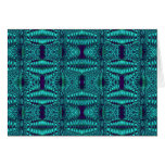 fractal turquoise greeting card