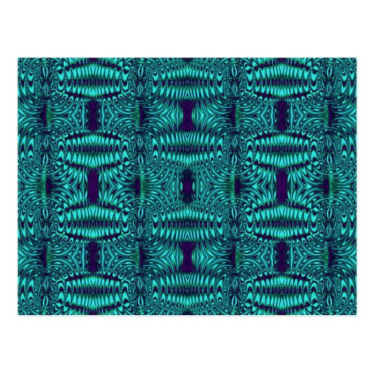 fractal turquoise postcard