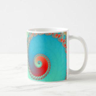 Fractal twirl blue coffee mug