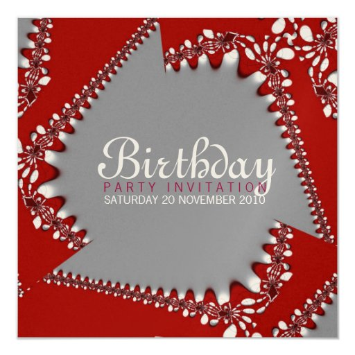 Fractal Twista Birthday Invitation