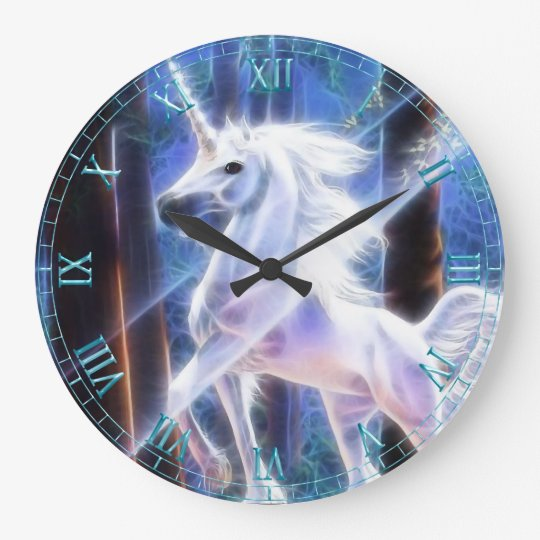 Fractal Unicorn Wall Clock
