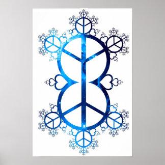 Fractal universal de la paz y del amor posters