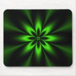 Fractal verde de la explosión de la flor alfombrilla de ratón