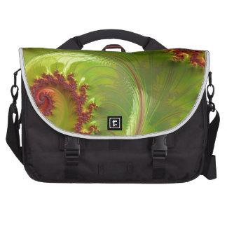 Fractal verde de la hoja bolsa de ordenador
