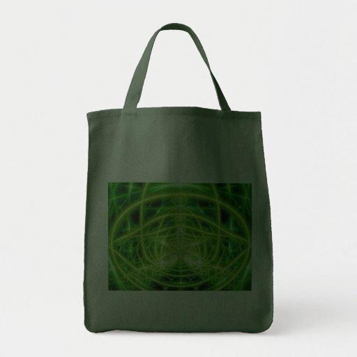 Fractal verde de la hoja del pote bolsa tela para la compra