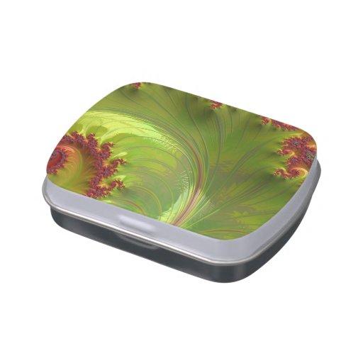 Fractal verde de la hoja jarrones de dulces