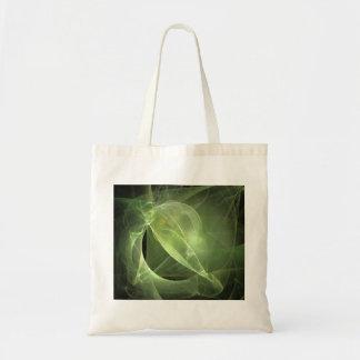 Fractal verde etéreo bolsa tela barata