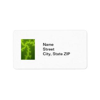 Fractal verde etiquetas de dirección