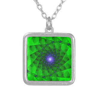 Fractal verde geométrico colgante cuadrado