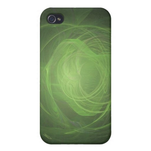 Fractal verde iPhone 4 funda