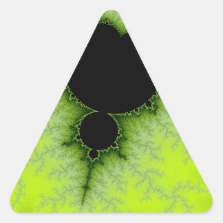 Fractal verde pegatinas de trianguladas