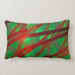 Fractal verde y rojo abstracto del arte moderno almohada
