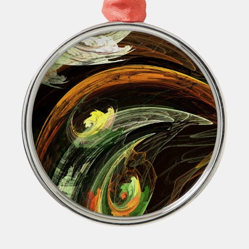 Fractal - viento que remolina de las hojas de otoñ ornamento para reyes magos