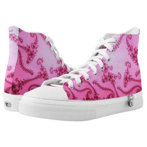 Fractal Vines Lavender Printed Shoes