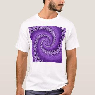 Fractal Violet Double Spiral Shirt