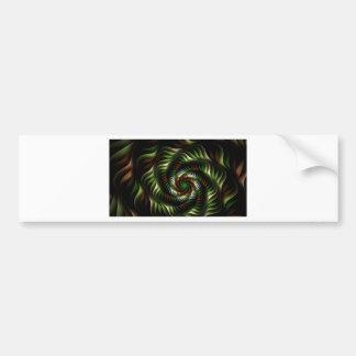 Fractal vortex bumper sticker