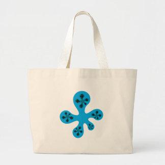 Fractal Walker - Blue Large Tote Bag