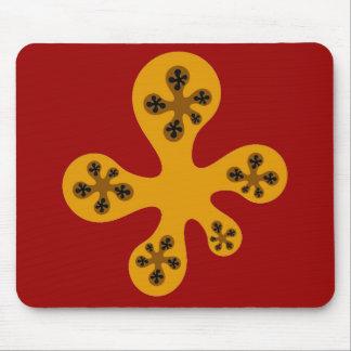 Fractal Walker - Orange Mouse Pad