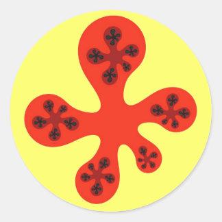 Fractal Walker - red Sticker