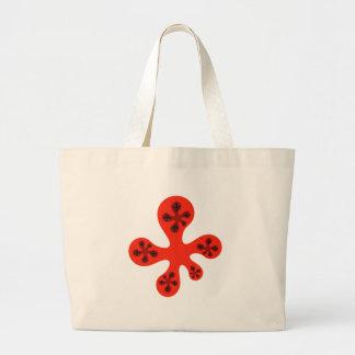 Fractal Walker - Red Tote Bag
