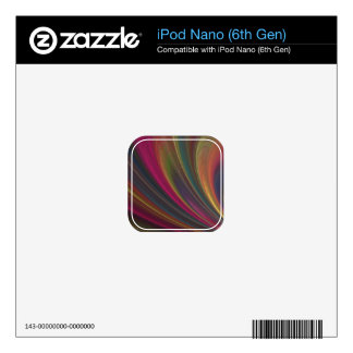 Fractal Wave Pattern Decal For iPod Nano