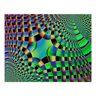 Fractal Weave Poster