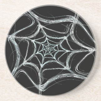 Fractal Web Series-1---B&W Coaster 1 of   colors