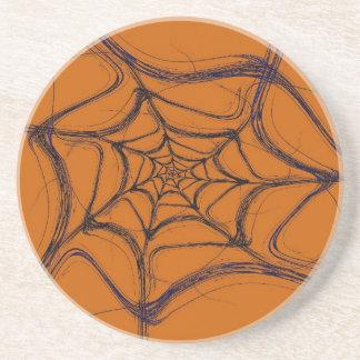 Fractal Web Series-1---Orang Blk Coaster 1 of