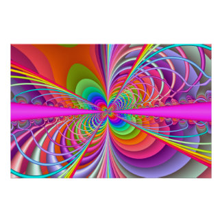 Fractal Whimsical Butterfly Poster