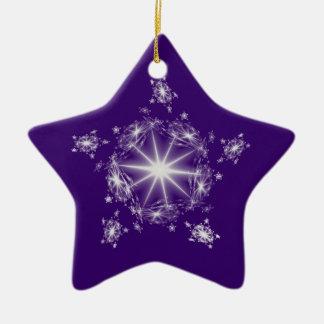 Fractal White Star Ornament
