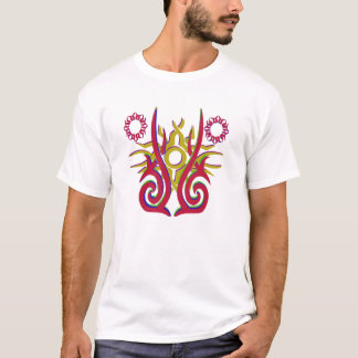 Fractal white t shirt design